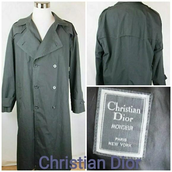 db301570 Christian Dior Monsieur Mens Trench Coat SZ 44L